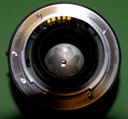 Aperture: Look at the seven blades close in on this lens, leaving an approximate circular hole for light to pass through to the sensor.