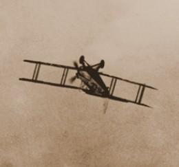 ADOLPHE PEGOUD FLYING UPSIDE DOWN