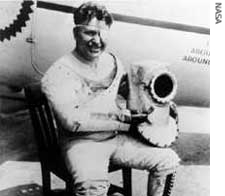 WILEY POST BECAME THE FIRST MAN TO FLY SOLO AROUND THE WORLD IN 1933.  THE FLIGHT WAS COMPLETED IN 7 DAYS, 19 HOURS.  WILEY POST AND WILL ROGERS DIED TOGETHER IN A PLANE CRASH AT BARROW, ALASKA IN 1935