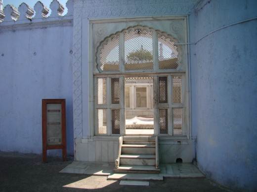 Entrance of the tomb