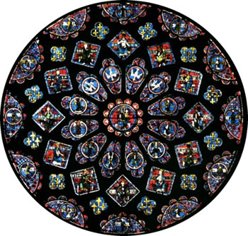 Chartres rose window from astro.com