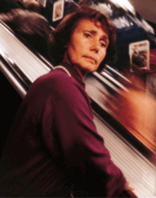 Travelling on an escaltor cause Gisela Leibold anxiety as she cannot detect movement.