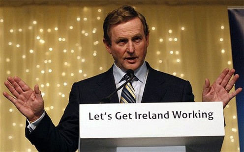 Enda Kenny for Fine Gael and Labour government.