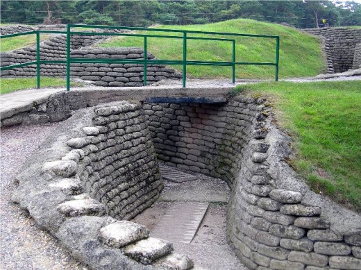 Trenches of Vimy Ridge from trekearth.com