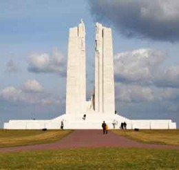 Vimy Ridge memorial from duhaime.org