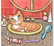 HOW ABOUT THIS IDEA FOR A NEW CARTOON, SID THE AMAZING SINK CAT?