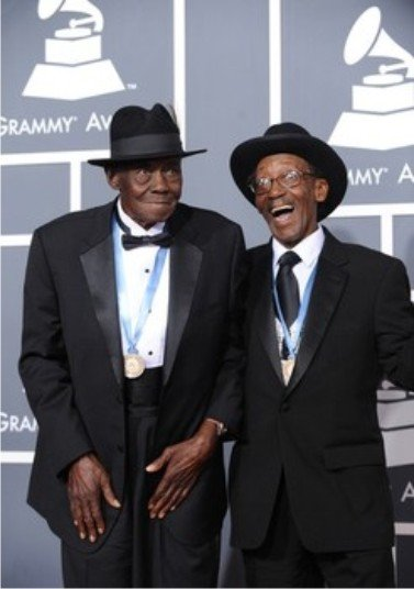 "Pinetop with Willie ""Big Eyes"" Smith at the Grammy's"