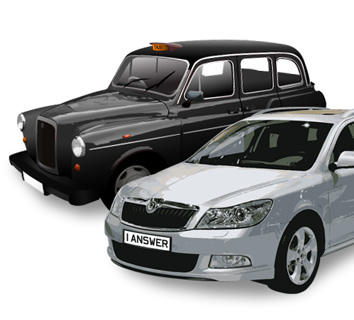 Can you tell the difference? Be safe. Choose a fast black taxi.