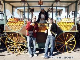 Fresh Orange Juice Stall at Djemaa el-Fna, Marrakesh, Morocco.