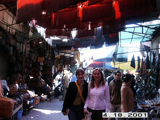 Souq of Marrakesh (crafts market), Morocco.
