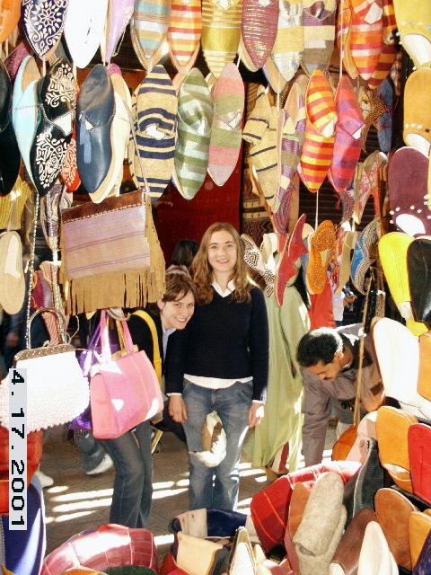Silk Crafts. Souq of Marrakesh (crafts market), Morocco.