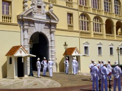 Changing of the guard, Monaco palace.