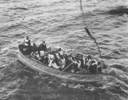 Lifeboats from the Titanic