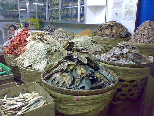 Variety of Dried Fish in the Market (including Langkoy or Beltfish)