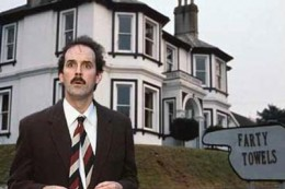 "John Cleese of ""Fawlty Towers"""