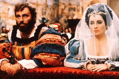 "Richard Burton and Elizabeth Taylor in ""The Taming of the Shrew."""