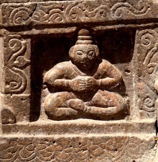Stone art on the main gate