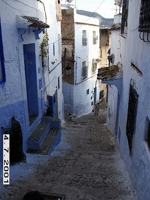 Chefchaouen: the blue village of North Morocco.