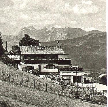Hitler's Berghof on the Obersalzberg mountain.
