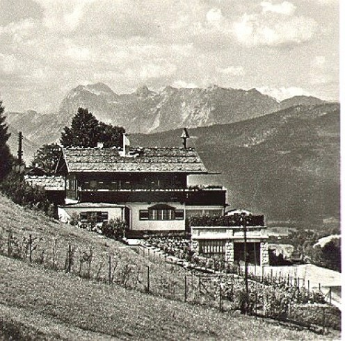 Hitler's Berghof on the Obersalzberg mountain.