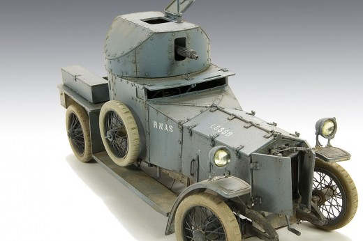 A Rolls-Royce Armoured Car of the Royal Naval Air Service (RNAS)