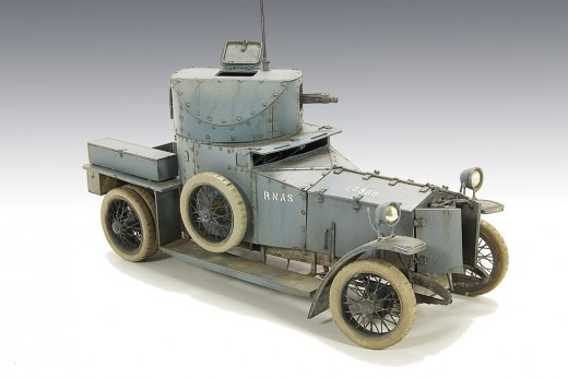 Side View of a A Rolls-Royce Armoured Car of the Royal Naval Air Service (RNAS)