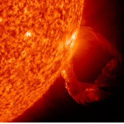 Solar Flares can create earthquakes, facts and history