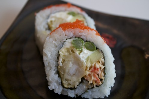 super shrimp Tempura sushi Roll