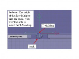 Problem: Track too low