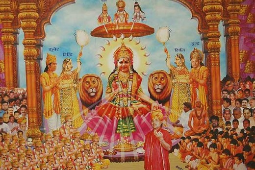 Vasunshara Raje poster in Goddess form