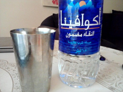 It says Aqua Fina, in Arabic, OK?