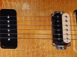P90 and Burstbucker an unusual mix for a Les Paul