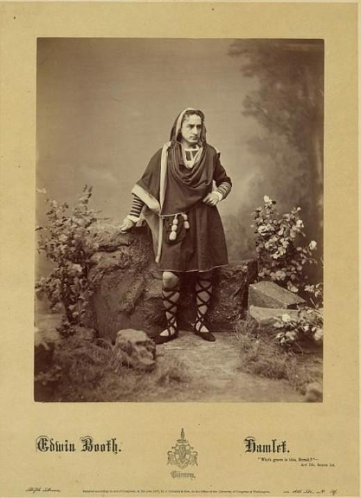 Edwin Booth as Hamlet, ca. 1870