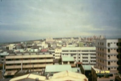 The view from out ninth floor apartment. Four days before the earthquake.