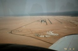 View from the plane near Sharm al Sheikh, when we scattered my father's ashes. April 2001