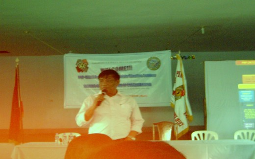 Retired PNP Colonel Eliciar Lanon Bron during his lecture (March 25, 2011)