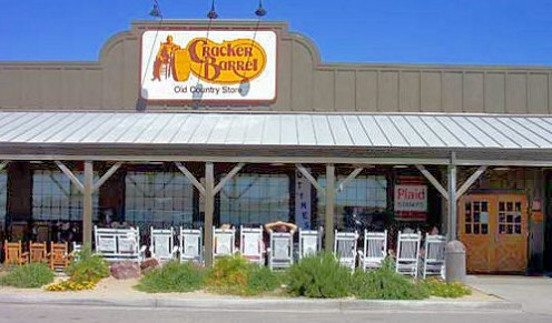 An outside view of a Cracker Barrel restaurant.