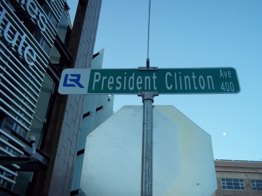 President Clinton Avenue, is also, 1st street, and Markham...