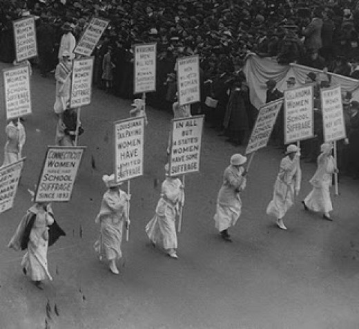 Women on the march in the early 20th Century