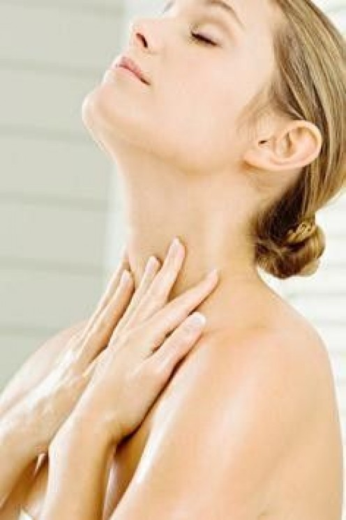 apply neck cream twice daily for smooth wrinkle free skin