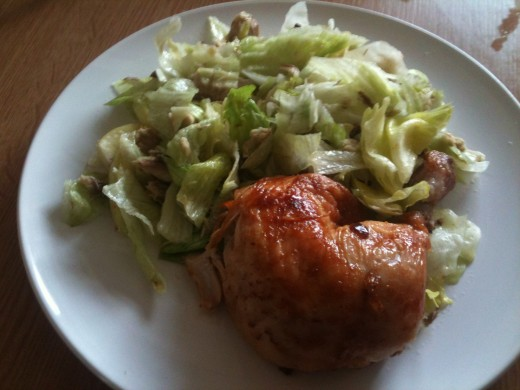 My spring salad  with chicken