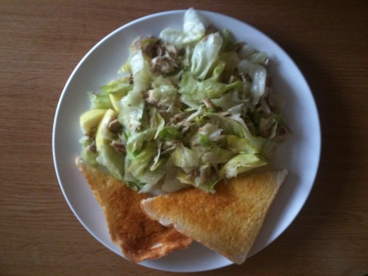 My spring salad with toast