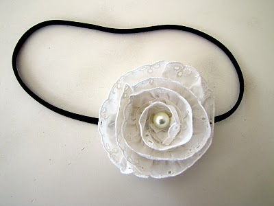 victorian lace with rose in the middle at Little Miss Momma