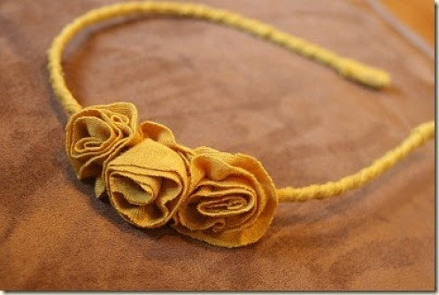 fabric flower headband at My Side Of The Room