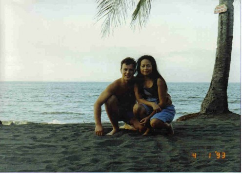 Me and My Husband - Gray Sandy Beach, Buenavista Beach, Agusan del Norte, Phil.