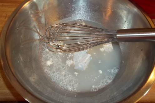 Whisk flour and water together