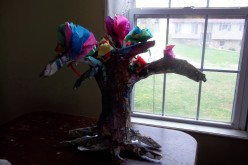 Here is final tree with spring paper flowers