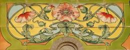 Ceramic detail at Genval railroad station
