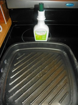 Step 1- Spray Butter Spray on Nordic Grill