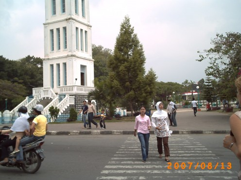 Jam Gadang - a clock tower in Bukittinggi town - one of the place to be visited if you go to this town.